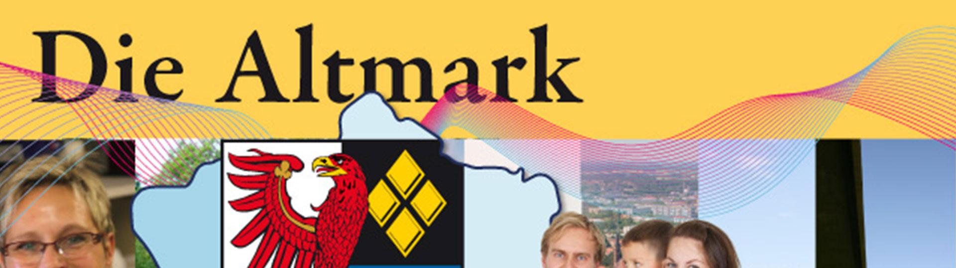 Titelbild die Altmark, Wirtschaftsbroschüre